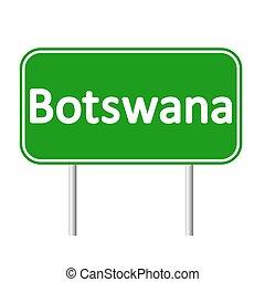Botswana road sign. - Botswana road sign isolated on white...