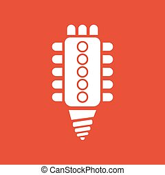 The led lamp icon. Lamp and bulb, lightbulb, CFL,...