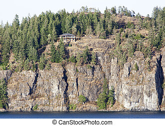 Living In British Columbia - The lonely house built on the...