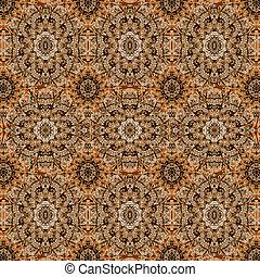 Modern Oriental Ornate Seamless Pattern - Digital photo...