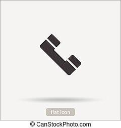pictogram, Telefoon,  Vector,  eps10,  type