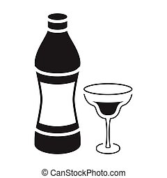 Vermouth icon in black style isolated on white background....