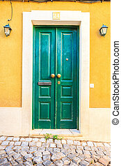 Colorful doors in Portugal