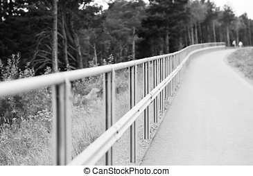 Black and white steel border fence background hd