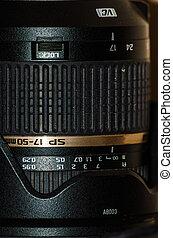 Lens camera close up