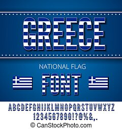 National Flag Font