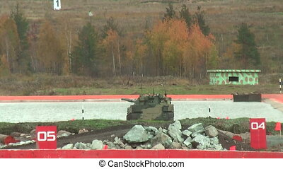 Airborne tracked armoured vehicle BMD-4M in water - Nizhniy...