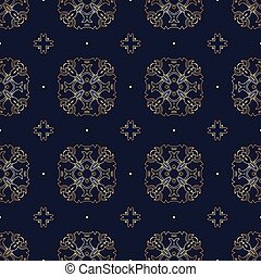 Gold seamless pattern.