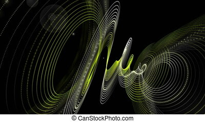 Futuristic eco animation with particle stripe object and...