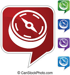 Compassweb button isolated on a background.
