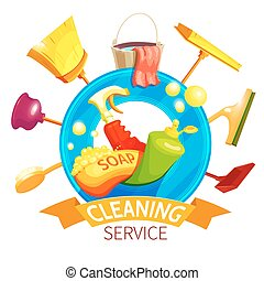 Cleaning Logo Business Composition - Cleaning logo business...