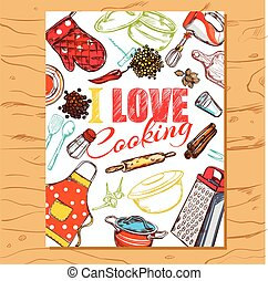 I Love Cooking Poster