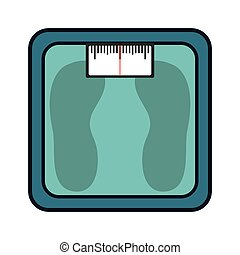 scale balance measure weight gym vector illustration design