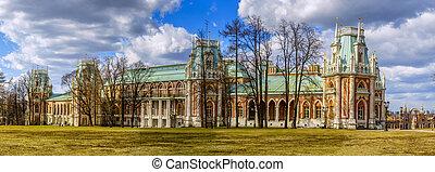 Tsaritsyno Palace - Restored Tsaritsyno Palace in Moscow...