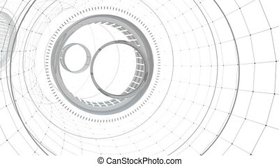 Seamless looped abstract tunnel motion graphics - Seamless...