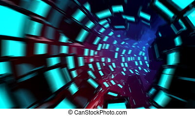 Seamless looped abstract motion graphics - Seamless loop 3D...