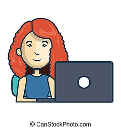 Avatar of a person working on laptop