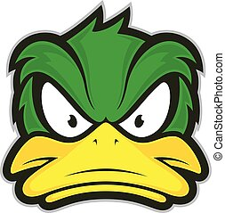 Angry duck mascot - Clipart picture of a angry duck cartoon...