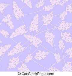 Seamless pattern with sage. Flowers, delicate color