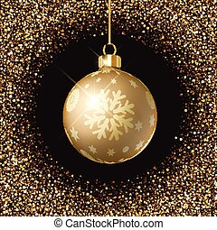 christmas bauble background 0809 - Christmas bauble on a...