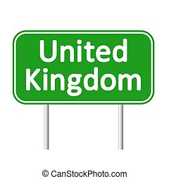 Great Britain road sign. - Great Britain road sign isolated...