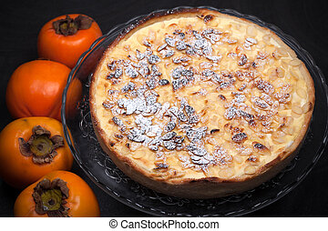 Persimmon Flan - Persimmon flan, cake made with persimmon...