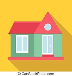Stylish house icon, flat style