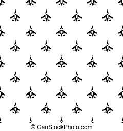 Jet fighter plane pattern, simple style - Jet fighter plane...