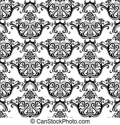Seamless black & white wallpaper - Luxury seamless black &...