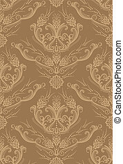Luxury brown floral wallpaper vector illustration