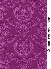 Luxury fuchsia floral wallpaper