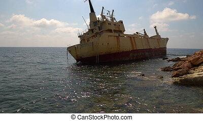 Edro III wreck ship of in Pegeia , Cyprus - Edro III wreck...