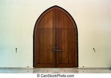 madeira, PORTA, igreja