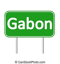 Gabon road sign. - Gabon road sign isolated on white...