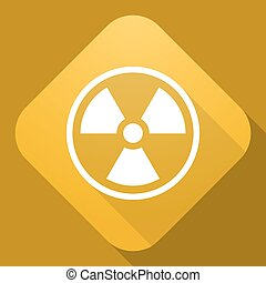 Vector icon of Radiation Sign with a long shadow