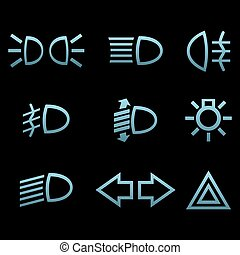 Car interface symbols. Vector illustration Eps 10