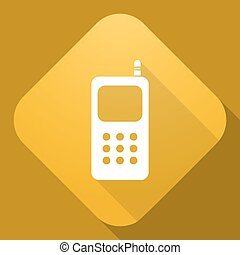 Vector icon of Mobile Phone with a long shadow