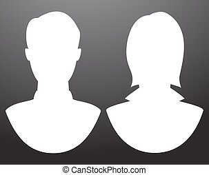 Man and women silhouettes