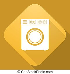 Vector icon of Washing Machine with a long shadow