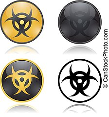 Bio hazard warning sign. Vector illustration Eps 10