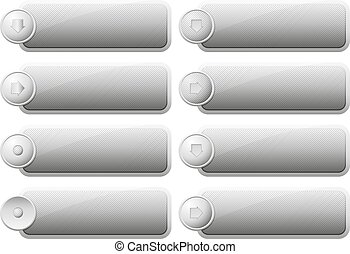 Set of Internet Buttons. Vector illustration Eps 10