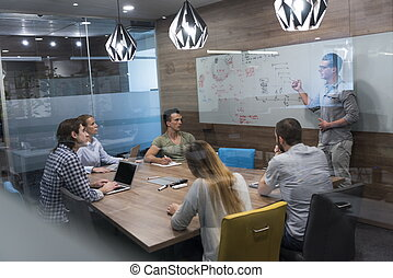 startup business team on meeting - startup business team...