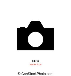 Foto camera simple icon for web, design, photographer....