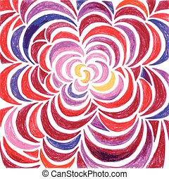 Pattern from the petals of the shades of red and purple -...