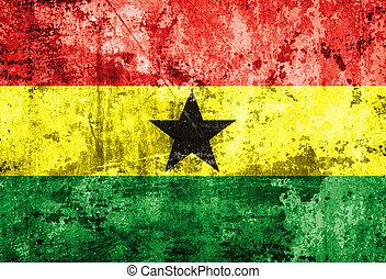 Ghana flag on old paper