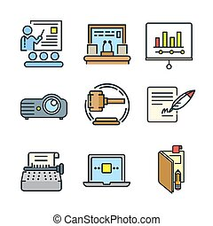 meeting icon set color