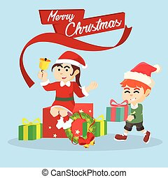 merry christmas banner illustration design