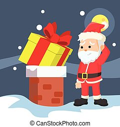 santa christmas presents cant go into chimney