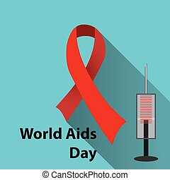 World Aids Day - Aids Awareness Red Ribbon. World Aids Day...