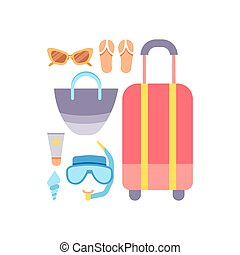 World Travel. Vacations. Summer holiday. Tourism and vacation icons theme.